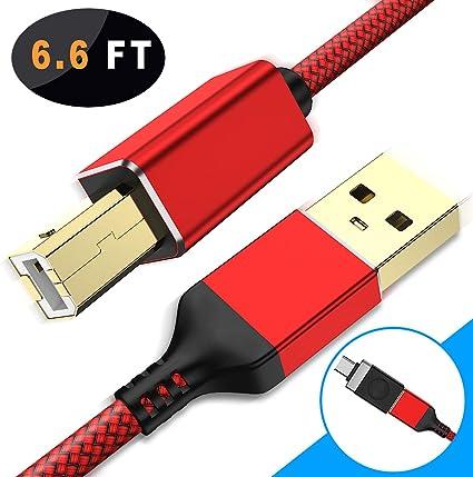 Amazon.com: Basesailor - Cable USB para impresora con ...