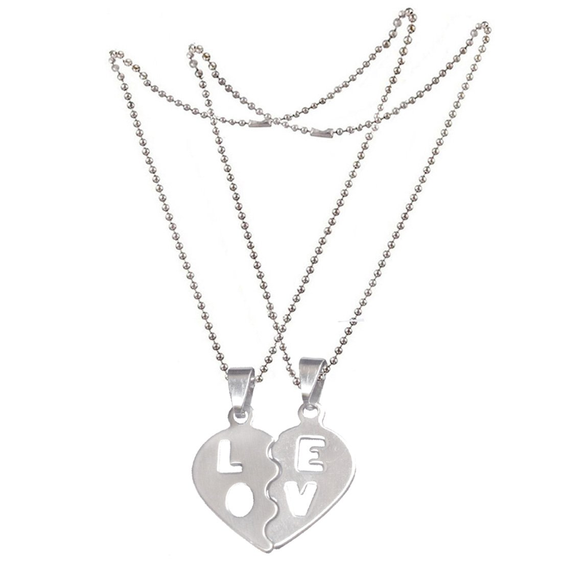 6dbf85ce38 Sullery Silver Stainless Steel Love Letters Couple Heart Lockets for  Unisex: Amazon.in: Jewellery
