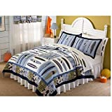 Pem America Catch a Wave Twin Quilt with Pillow Sham
