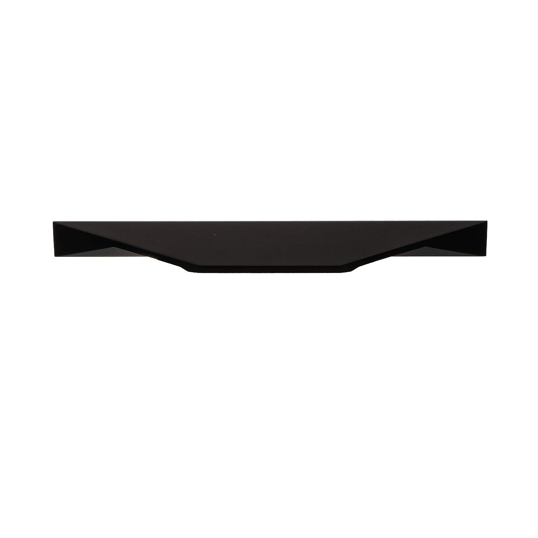 Moderner M/öbelgriff 96 /& 128 mm K/üche Griffleiste schwarz matt Design-Griff Aluminium H10310 K/üchengriff f/ür Schubladen 1 St/ück Schubladengriff eckig Alu Profilgriff mit L/änge 200 mm