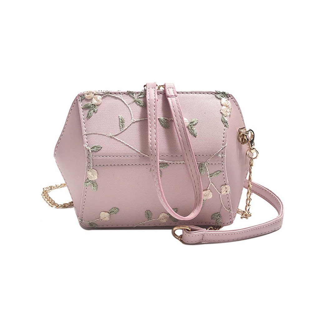 Crystalzhong Summer Fairy Small Fresh Lace Flower Shell Bag Mini Chain Shoulder Slung Girl Bag Multifunctional diagonal package