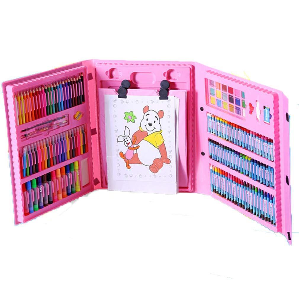 ZMH Set Art, 176Pcs Bambini Professionisti Colorati Matita Disegno Artista Kit con Scatola Pittura Art Pennarello Set Crayon Olio Pennello Strumento di Disegno Art Cancelleria Set Regalo per Bambini