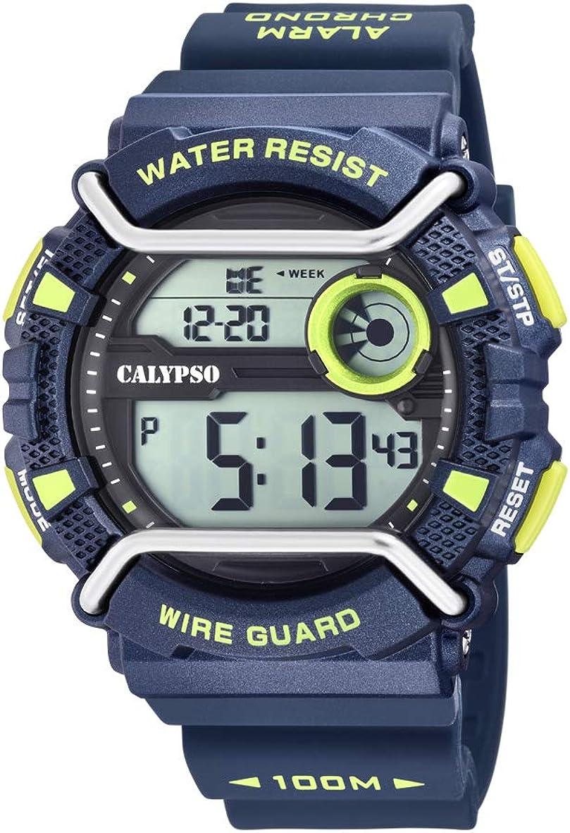 Calypso Reloj Digital para Hombre de Cuarzo con Correa en Plástico K5764/3