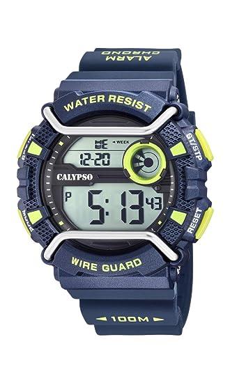 Calypso Watches Reloj Digital para Hombre de Cuarzo con Correa en Plástico K5764/3: Amazon.es: Relojes