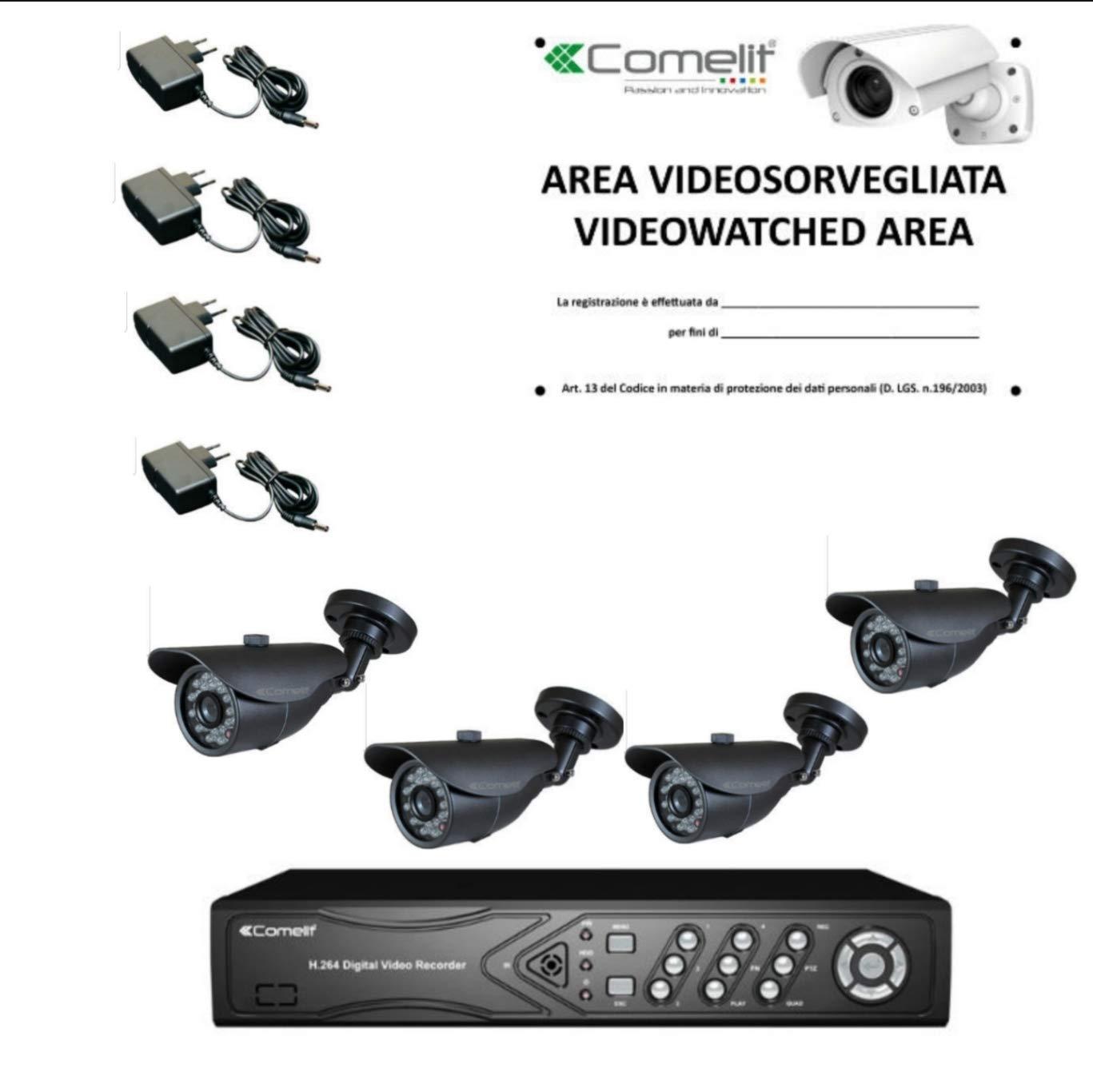 Kit cámara videovigilancia comelit 1dvr 1TB, 4 cámaras ...