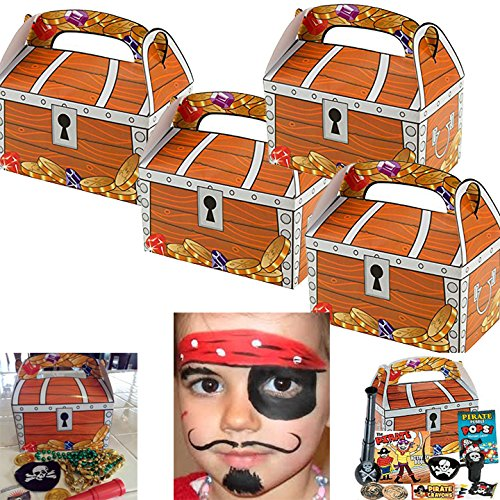 Adorox (12 Chests) Treasure Chest Treat Boxes Pirate Birthday Party Favor (Quick And Simple Halloween Treats)