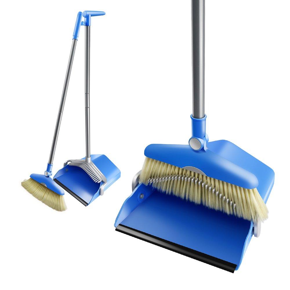 Mastertop Broom and Dustpan Set Outdoor Heavy Duty Floor Cleaning Sweep Sets