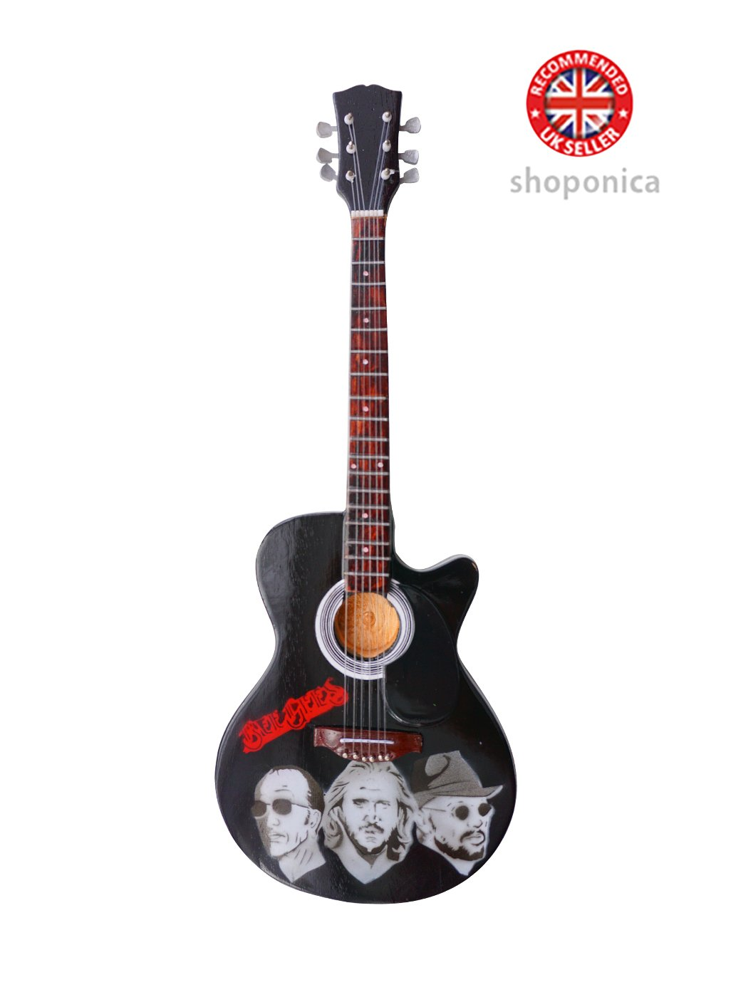 Bee Gees – A Tribute Holz Miniatur-Gitarre Replica Music Legends