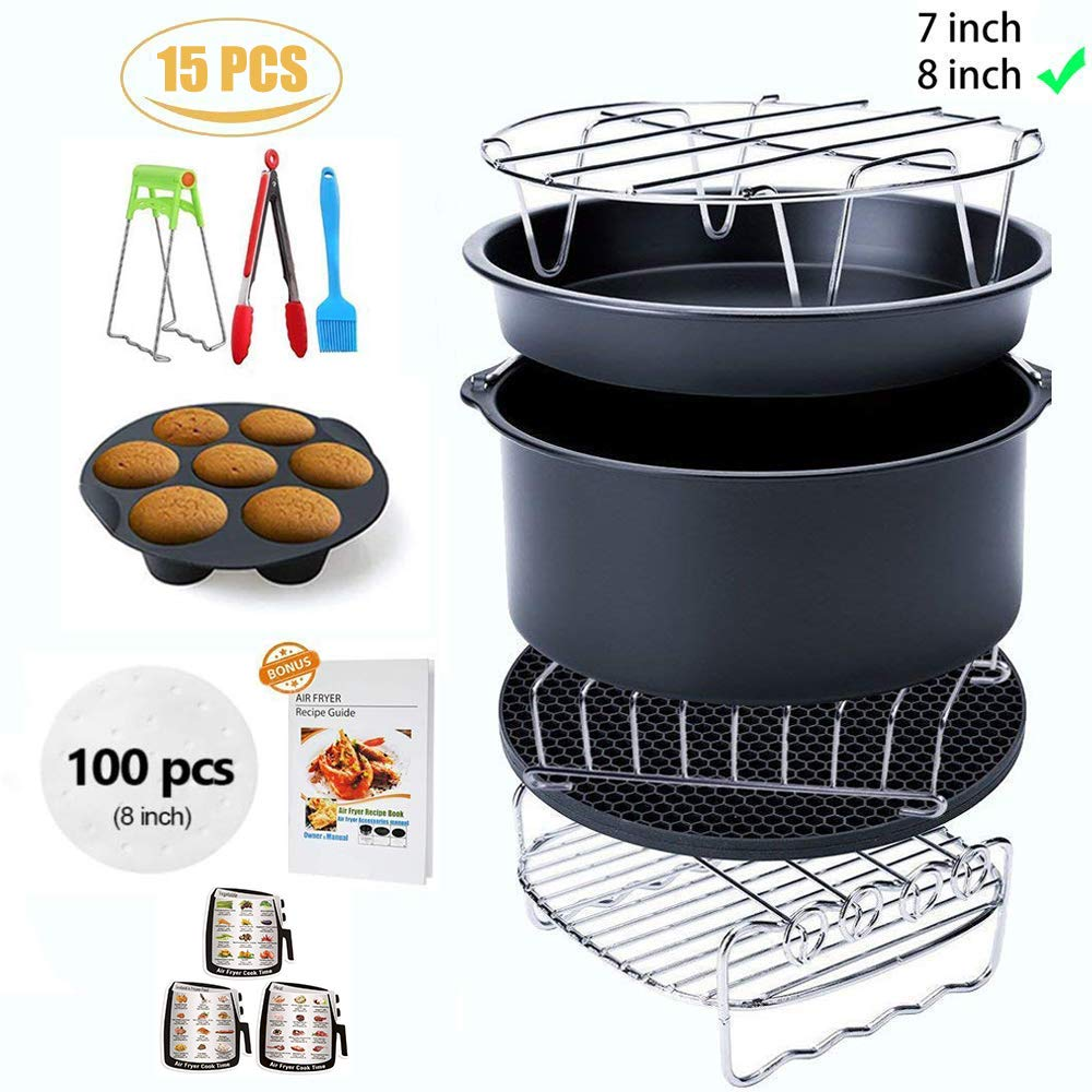 Ptsaying Air Fryer Accessories XL 12 sets, For Phillips power air fryers dash oven deep Fryer Accessories nuwave ninja Gowise Air Fryer Accessories Fit all 4.2-6.8QT, air fryer liners by Ptsaying