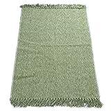 kitchen floor mat green - Fani Cotton Rugs Hand-Woven Braided Kitchen Mat Living Room Area Rug Green Floor Rug (24Inch×51Inch,Green)