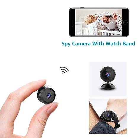 874e7edf9 Cámara Espía Oculta AOBO 1080P HD Mini WiFi Cámara Portátil Interior/Hogar  Cámara IP de Seguridad/Visión Nocturna por Infrar Rojos Vigilancia ...