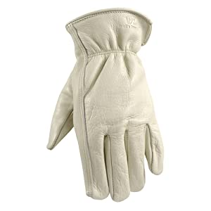 Leather Work Gloves with Reinforced Palm, DIY, Yardwork, Construction, Motorcycle, XXX-Large (Wells Lamont 1130XXX)