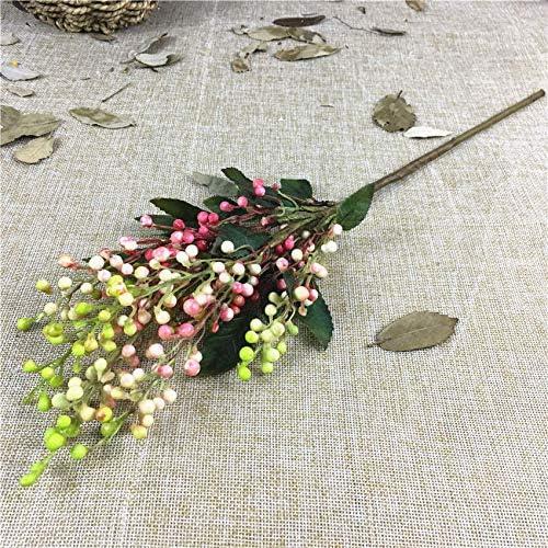 rainbowhh - Rama de Bayas de plástico para decoración del hogar, jardín, Boda, decoración de Flores de imitación A: Amazon.es: Hogar