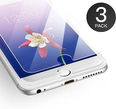AXHKIO Protector de Pantalla Compatible con iPhone 6/ iPhone 6s Vidrio Templado (4,7 Pulgadas) -0.25mm, Transparente HD, Dureza 9H, Toque 3D: Amazon.es: Electrónica