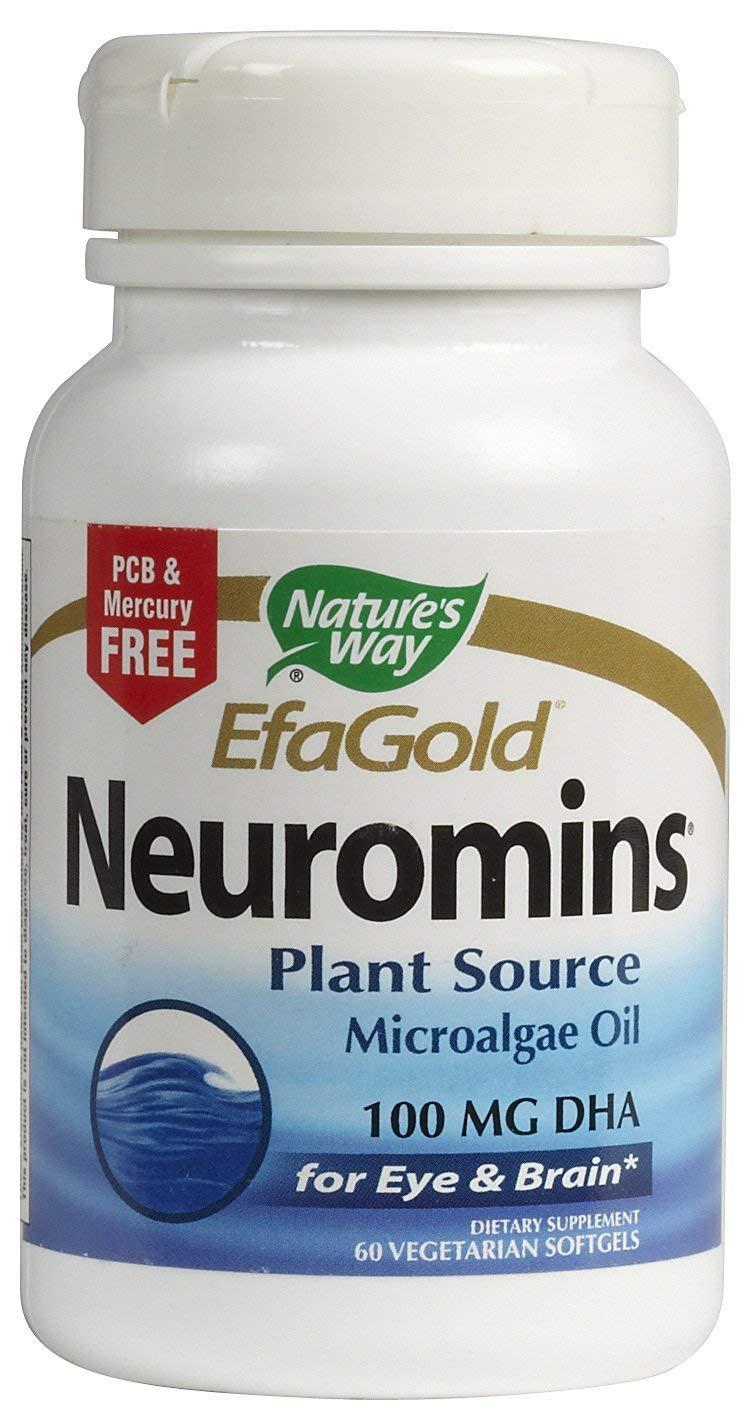 Nature's Way EfaGold Neuromins 100 milligrams DHA, 60 softgels, Pack of 3 bottles.