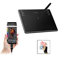 Huion Inspiroy H430P OSU! Pen Tablet Graphics Drawing Tablet 4.8 x 3 inches 4096 Pen Pressure Battery-Free Pen for…