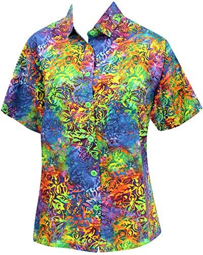 (LA LEELA Likre Collar Camp HD Digital Outfit Shirt Multi 451|XXL - US 44 -)