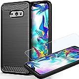 LG G8X Thinq Case, LG V50S Thinq Case with HD Screen Protector, Yuanming Soft TPU Slim Shockproof Anti-Fingerprint Full…