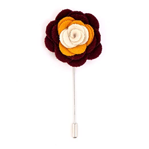 Amazon cotton flower tri color cotton flower lapel pin white cotton flower tri color cotton flower lapel pin white orange and maroon mightylinksfo