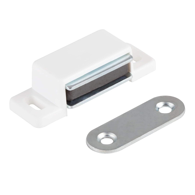 Magnet-T/ürschlie/ßer 10er Set in braun Magnetverschluss Haltekraft 4kg Balkont/ü Magnet Schrankt/ür Magnetschloss LouMaxx Magnetschn/äpper M/öbelmagnet T/ürmagnet