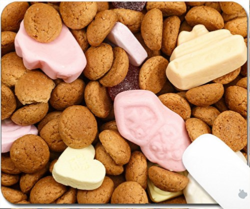 Luxlady Gaming Mousepad 9.25in X 7.25in IMAGE: 38922363 Pattern pepernoten and colorful sweets Sinterklaas Typical food for Sinterklaas celebration on 5 december Event in Holland Netherlands and Bel -