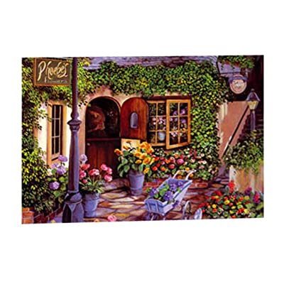 InMarry Adults Puzzles, 300 Piece Mini Jigsaw Puzzle for Kids Landscape Jigsaw Puzzle, DIY Home Decoration 14.64 x 9.92inch (Multicolor): Clothing
