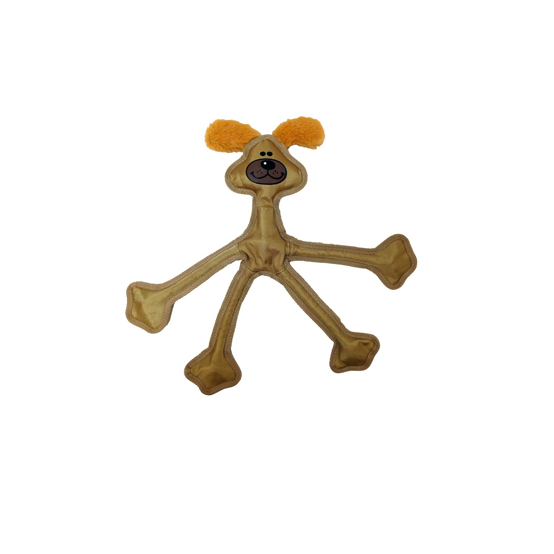 Multipet 43322-1 Skele-Ropes Animals Toy, Dog, 15'', Tan