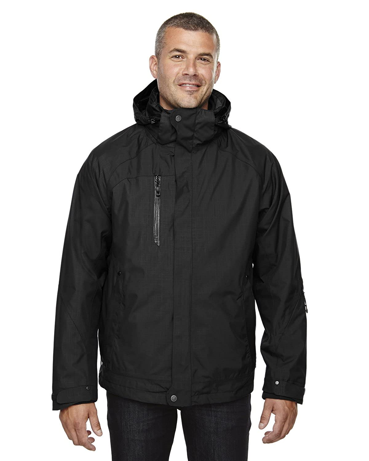 Ash City – North End 88178 Men 's Caprice 3 - in - 1 Jacket withソフトシェルライナー B00A2PY62G ブラック703 5L