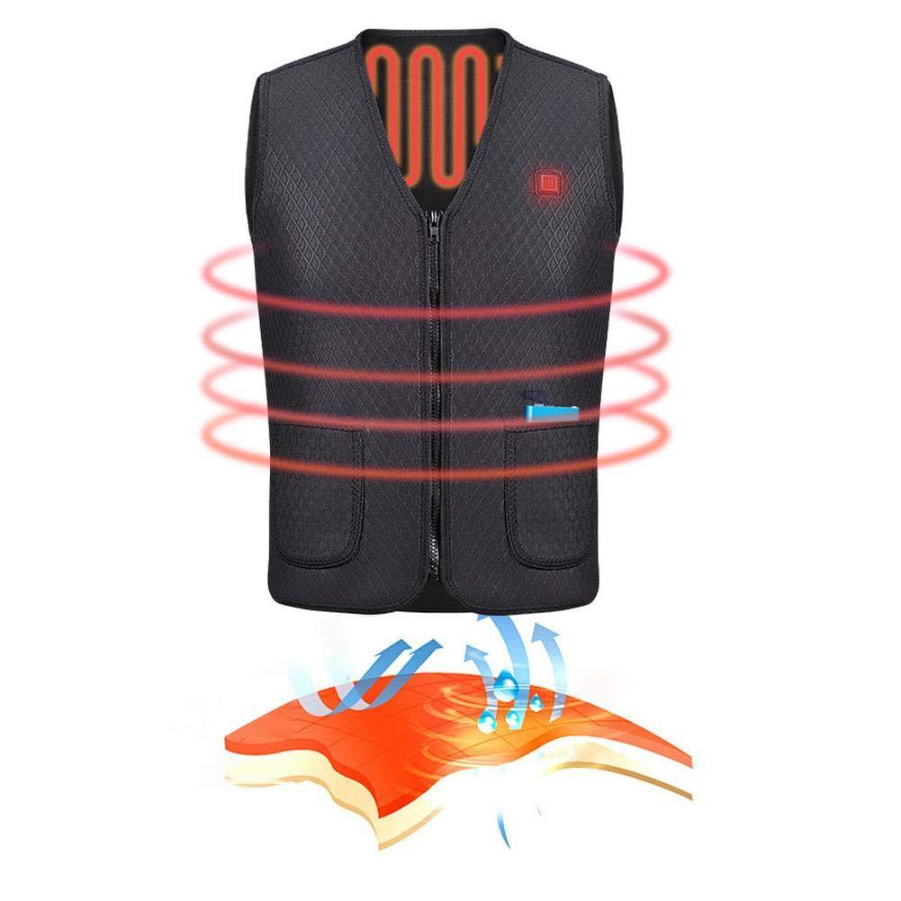 AITOCO Chaleco el/éctrico con calefacci/ón Chaleco Caliente con Carga por USB Ropa el/éctrica Caliente con calefacci/ón para Esquiar al Aire Libre Pesca