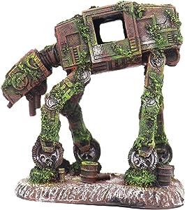 Ulifery Robot Dog Cool Walking Land Tank Aquarium Ornament Fish Tank Decorations for Betta