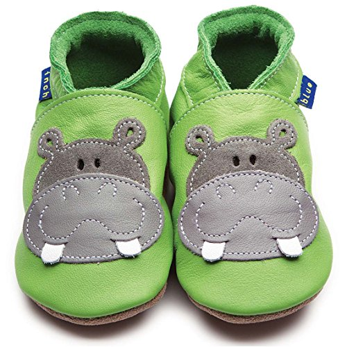 Inch Blue Krabbelschuhe Hippo Green/Grey, Child Extra Large