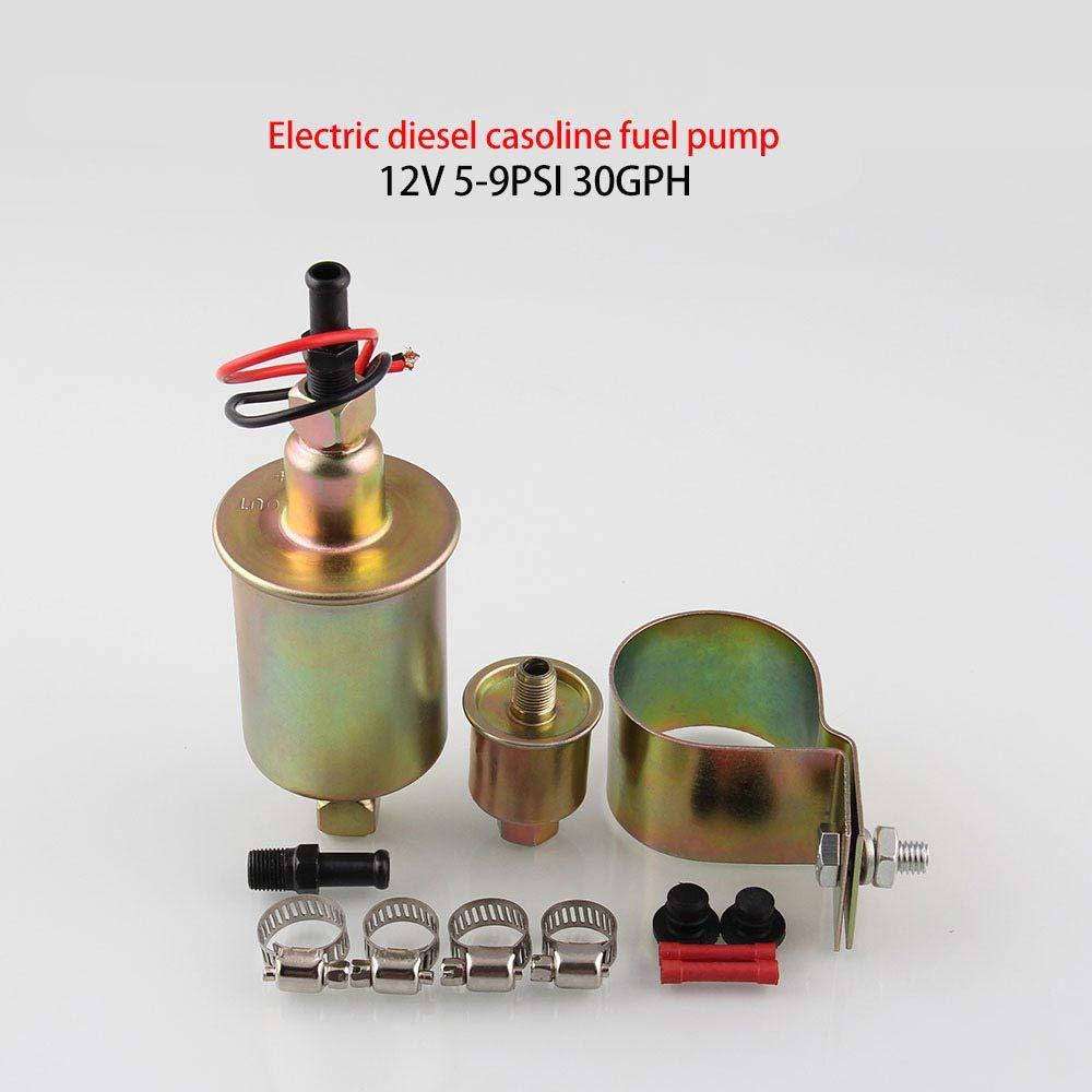 Niederdruck universell einsetzbar elegantstunning E8012S Elektrische Kraftstoffpumpe 12 V 5-9 psi