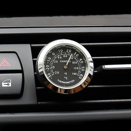 Txian Car Thermometer Air Vent Oldtimer Temperaturanzeige 38x38x17mm Auto
