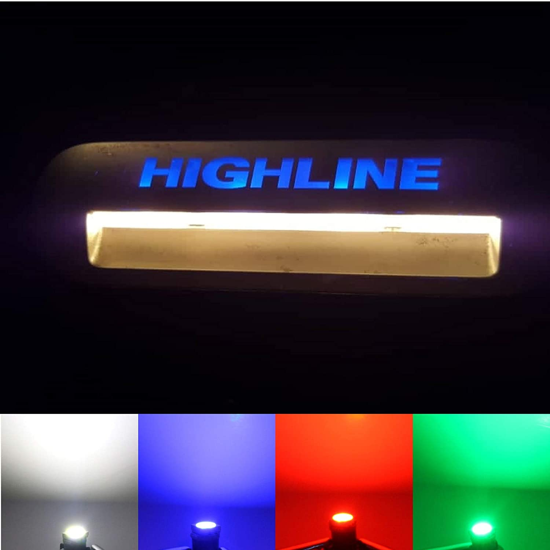 Halogen Trittbrettbeleuchtung 4 x blau LED-Mafia/® Trittbrettstufenbeleuchtung
