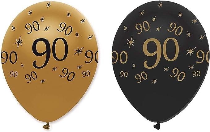 Creative Party Rb291 Latex Luftballons Schwarz Und Gold 90 Stück 6 Stück Küche Haushalt
