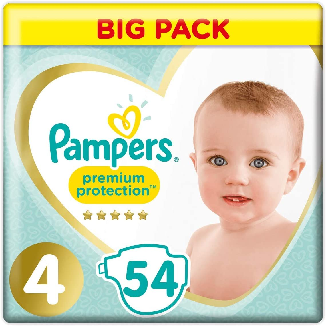 8-16 kg//Maxi x54 couches Premium Protection - Pack Value+ Couches Taille 4 Pampers