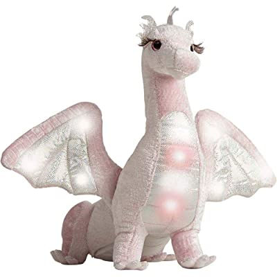 Shreya Pink Dragon Lights & Sounds 23 inch - Stuffed Animal by Douglas Cuddle: Toys & Games