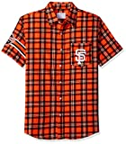 FOCO San Francisco Giants Wordmark Basic Flannel Shirt - Short Sleeve Extra Large
