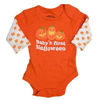 happy halloween infant boys u0026 girls creeper orange pumpkin babyu0027s first 24m