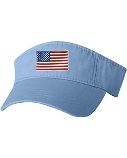e7f383f690a USA Patriotic American Retro Visor (White) at Amazon Men s Clothing ...