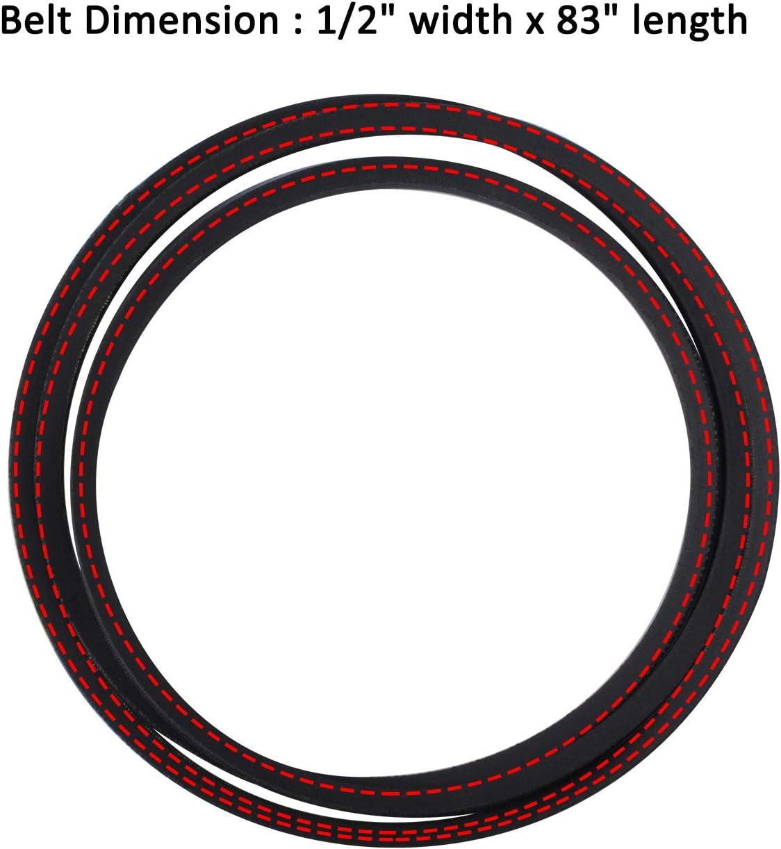 0.5 Width D/&D PowerDrive 531300773 Husqvarna Kevlar Replacement Belt 83 Length