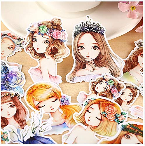 15pcs Creative Cute Self-Made Forest Girl/Forest Spirit Scrapbooking Stickers/Decorative Sticker/DIY Craft Photo Albums