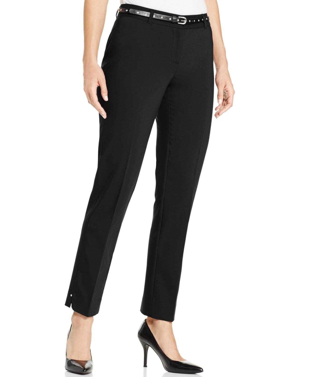 Style & co. Straight-Leg Ankle Pants (16, Black)
