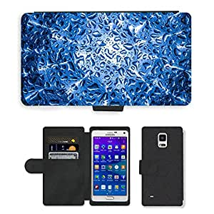 Hot Style Cell Phone Card Slot PU Leather Wallet Case // M00152224 Washing Hood Water Wet Clean // Samsung Galaxy Note 4 IV