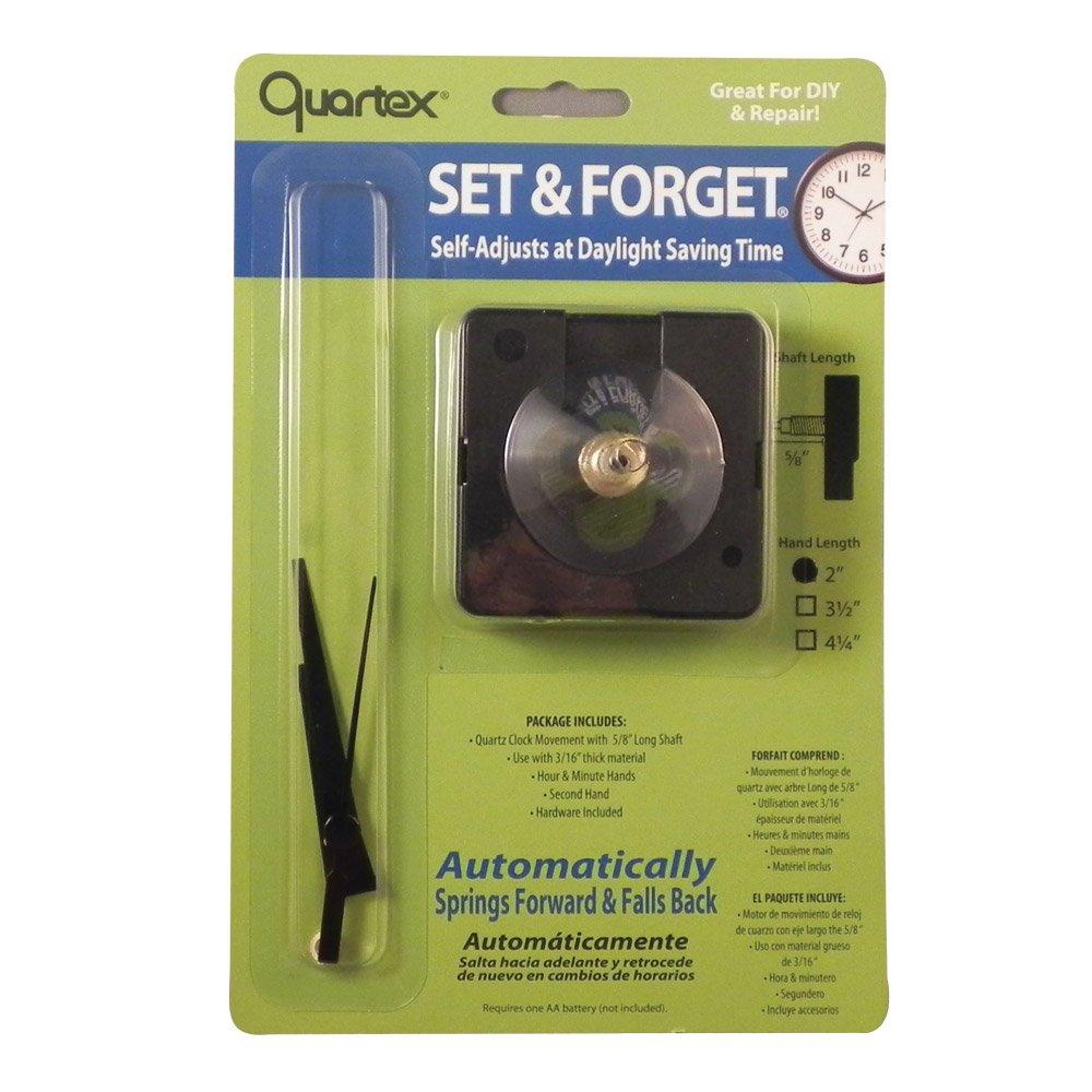Amazon.com: Quartex Set & Forget Clock Movement Set (3/4