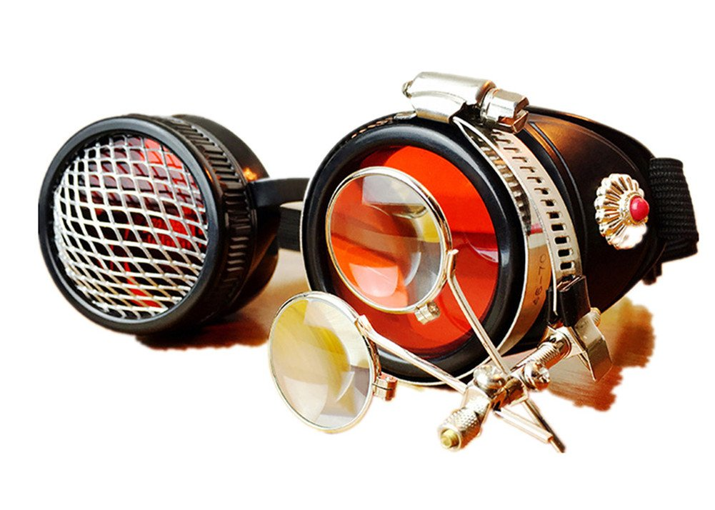JACKDAINE Steampunk Industrial Retro Goggles Halloween Goggles