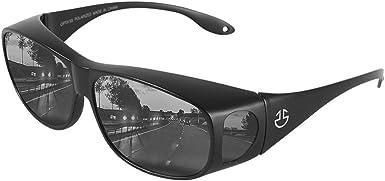 Fit Over HD Day / Night Driving Glasses Wraparound Sunglasses for Men, Women - Anti Glare Polarized Wraparounds