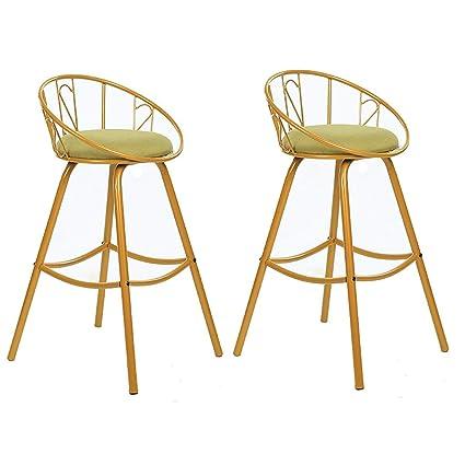 Amazon.com: NUBAO Taburete de barra de hierro, sillón de ...