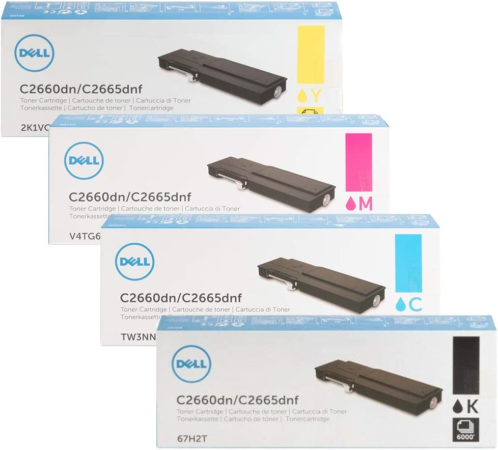 Genuine Dell HD47M Black Toner Cartridge C2660dn C2665dnf Printer new