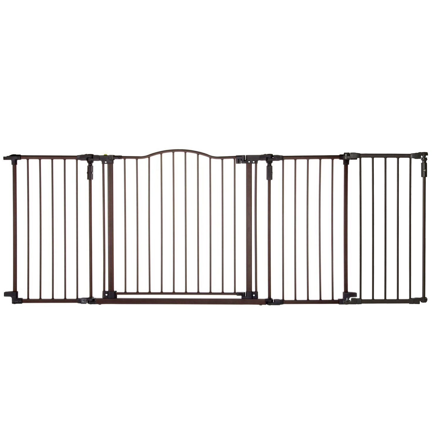 North States Deluxe Decor 38-71'' Wide Baby and Pet Metal Gate + 15'' Extension